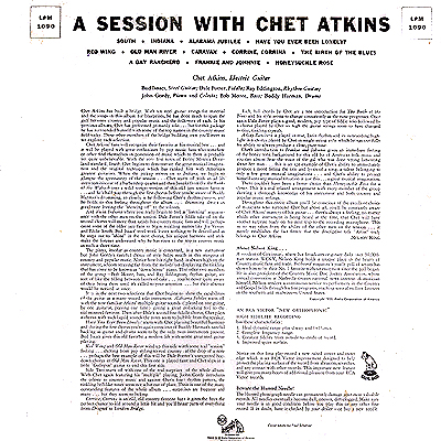 cover art chet atkins a session with. Black Bedroom Furniture Sets. Home Design Ideas