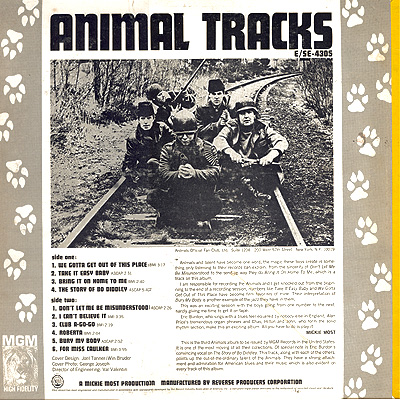 Image result for THE ANIMALS ANIMAL TRACKS