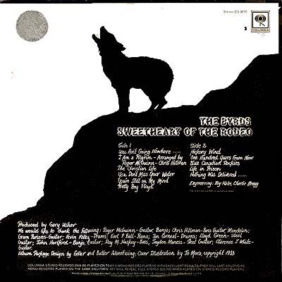 Cover Art The Byrds Sweetheart Of The Rodeo