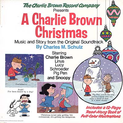 Charlie Brown Christmas Soundtrack.Album Cover Art Charles M Schulz A Charlie Brown Christmas
