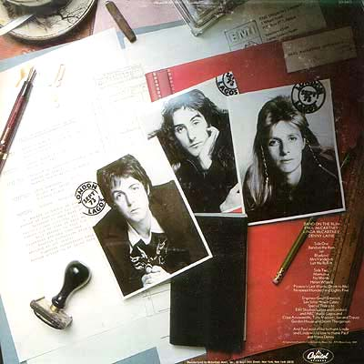 Album Cover Art Wings Band On The Run
