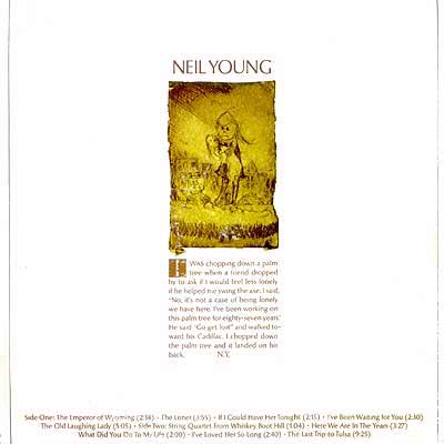 Album Cover Art - Neil Young - Neil Young